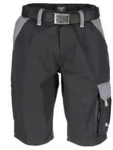 Short schwarz grau